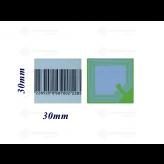 3x3 Labels RF 8,2 MHz Barcode per rol van 1000 stuks