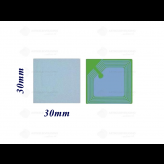 3x3 Labels RF 8,2 MHz Wit per rol van 1000 stuks
